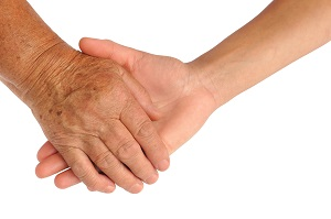 younger and older hands