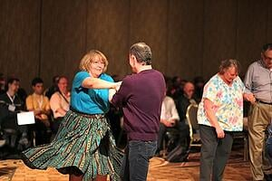 older adults square dance