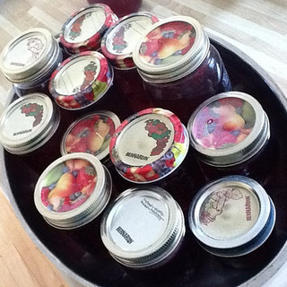homemade jam jars