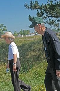 kendal at Oberlin members on a walk